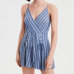 NWT AE Wrap Lace-Up Front Romper SIZE 4